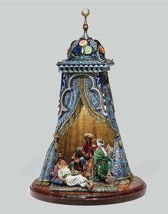 André Doré, Les Plaisirs du Sultan, table lamp, bronze, late 19th c