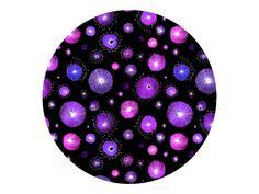 """""""Fabric Pattern Purple Flowers"""" by Pia Kolle"""