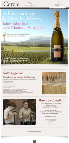 Le Cercle - Estate & Wines newsletter de mai 2014 Création FAT4