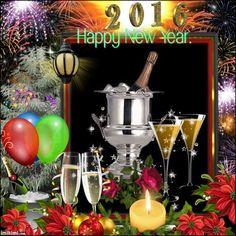 2016 Happy New Year Happy New Year, Wine Glass, Happy New Year Wishes, Wine Bottles