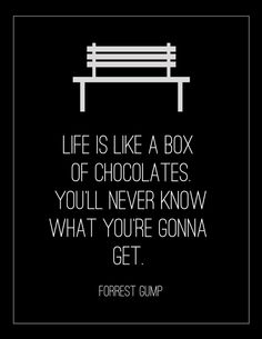 Life Is Like A Box of Chocolates, Forrest Gump Poster
