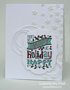 Holiday Happy with White Stars