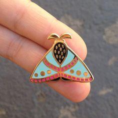 Moth enamel pin // insect enamel pin // butterfly enamel pin // Hard Enamel // Badge // Brooch // limited edition