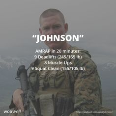 """Johnson"" WOD - AMRAP in 20 minutes: 9 Deadlifts (245/165 lb); 8 Muscle-Ups; 9 Squat Clean (155/105 lb)"