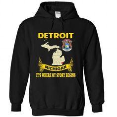 Detroit - Its where my story begins! - #gift for mom #gift amor. ORDER HERE => https://www.sunfrog.com/No-Category/Detroit--Its-where-my-story-begins-2484-Black-Hoodie.html?68278