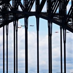 Australia Day Sydney Harbour Bridge featuring a fly over by the Russian Roolettes. #colour #sydneyharbour #sydneyharbourbridge #sydneyharbor #sydneyharborbridge #bridge #sydneyaustralia #australia #australiaday #australiaday2016 #tour #travel #tourism #travelphotography #port #porto #harbor #harbour #sea #sun #ship #luxury #colour #cruise #plane #aeroplane #flyover #russianroolettes #landscapephotography #landscape by paulanthonysleeman http://ift.tt/1NRMbNv
