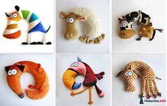 juguetes almohada de viaje + patrón