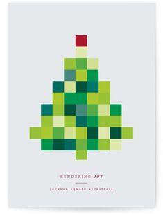 holiday graphism Rendering Joy Business Holiday Ca - holiday Corporate Holiday Cards, Business Holiday Cards, Business Cards, Company Christmas Cards, Christmas Greeting Cards, Christmas Graphic Design, Christmas Typography, Christmas Graphics, Web Design