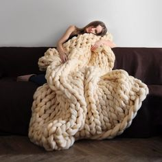Chunky Knit Blanket - $190