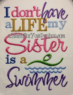 I don't have a Life my Brother Sister is a by astitchforyou, $3.75