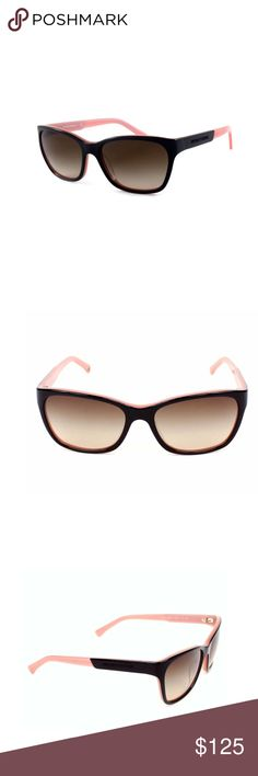 778879617d3 New Armani women s sunglasses 😎 Bold black rims are accented by opal pink  arms to give