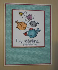 Card made using the Hey, Valentine stamp set from the Stampin' Up! 2015 Occasions Catalogue. http:tracyelsom.stampinup.net