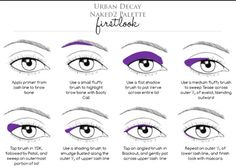 Urban decay Naked 2 palette detailed instructions on how to apply!