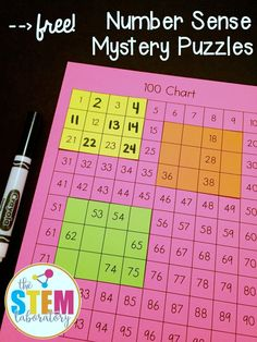 For math tier, Free number sense mystery puzzles! What a fun way to practice place value in kindergarten or first grade. Maths Guidés, Math Classroom, Kindergarten Math, Teaching Math, Number Sense Kindergarten, Multiplication Practice, Number Sense Activities, Math Activities, Math Games