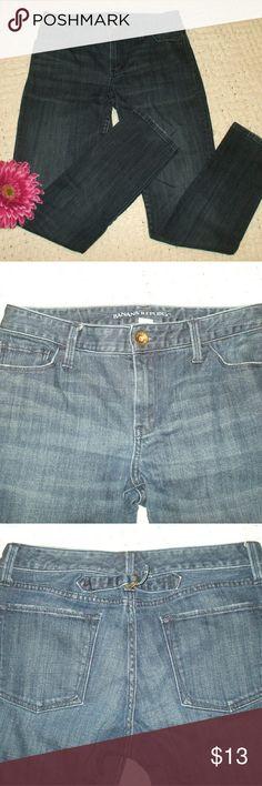 Banana Republic Dark Skinny Jeans Skinny jeans - Dark blue denim - 67% cotton, 32% Lyocell, 1% spandex - Really nice shape - Great pair of jeans! - smoking home Banana Republic Jeans Skinny