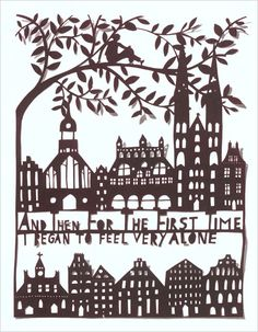 A page from This is for You, illustrated with paper cuts by Rob Ryan. (via chronicle books)