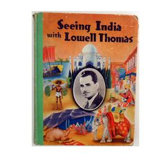 Antique Travel Book Seeing India with Lowell Thomas by OldLikeUs, $35.00
