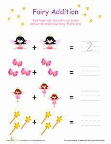 Simple Fairy Addition Worksheet
