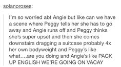 """Pack up English, we're going on Vacay!"" <<Repin if you hope Angie will return for season 2!!!"