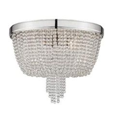 View the Hudson Valley Lighting 9008 Royalton 4 Light Flush Mount Ceiling Fixture with Clear Crystal Shade at Build.com.
