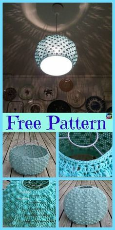 This crochet lampshade Project is pretty simple to make, and will also look great on your lamp! It has a beautiful pattern, and all you need for this is Easy Crochet Slippers, Crochet Mug Cozy, Cute Crochet, Beautiful Crochet, Crochet Kitchen, Crochet Home, Crochet Crafts, Crochet Lampshade, Fabric Lampshade