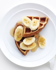 Make Elvis proud and whip up a batch of these peanut butter and banana waffles that will have any morning starting off on the right foot.