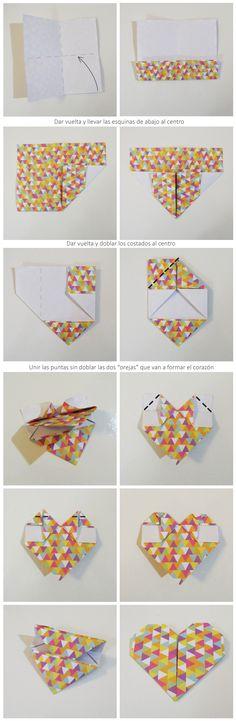¿Cómo hacer corazones de origami?