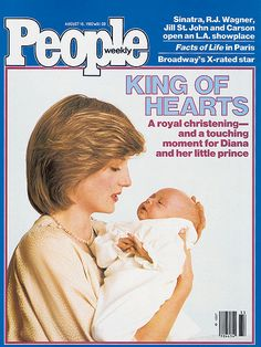 Nearly two months after his birth, Prince William is baptized His Royal Highness Prince William Arthur Philip Louis of Wales, in the Music Room of Buckingham Palace on August 4, 1982.