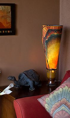 I saw one of these lamps at a friends house.  Simply GORGEOUS!  I must have one someday.