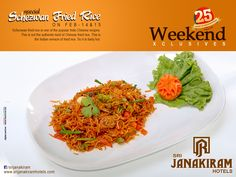 #Szechuan_Fried_Rice‬  - A delectable blend of spicy #flavours‬  that are sure to tease tour taste buds. Enjoy this #delicious‬ #weekend‬ exclusive at #SrijanakiramHotels  #holidayfood #weekendfood   #weekendspecials