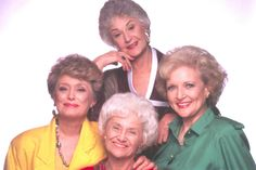 The Golden Girls ♥ Dorothy (Bea Arthur), Blanche (Rue McClanahan), Rose (Betty White) and Sophia (Estelle Getty) ♥