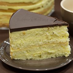 Boston cream pie - Like the layers with the layers of yummy goodness.