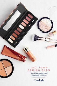 We've got everything you need to get your spring glow! Pick up all the essentials at Marshalls, from self tanning products to foundations and bronzers. Then add those finishing touches, like shimmer powder, eye shadow palettes, lip glosses and nail polish. (It's all about blushes and nudes!)