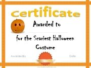 Free printable certificate for your home school or office halloween award certificates yelopaper Image collections