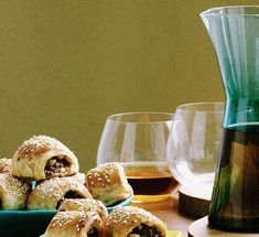 Australian Gourmet Traveller snack recipe for lamb and harissa sausage rolls