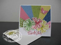 Stampin' Up! Flower Shop stamp set, Pansy punch, Sassy Salutations stamp set, Bitty Butterfly punch