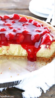 Do you have little things that you hold near and dear? For me, this recipe is one of them. It has journeyed with me through many years, and I'd like to share it with you now. This Cherry Cheesecake is so easy to make and has a delicious original flavor that is hard to beat. #cherrycheesecake #easycheesecakerecipe #cheesecake #valyastasteofhome   www.valyastasteofhome.com Winter Desserts, Christmas Desserts, Yummy Eats, Yummy Food, Cherry Topping, Cookie Recipes, Dessert Recipes, Recipes From Heaven, Cheesecake