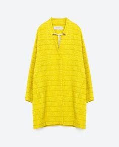 Image 8 of JACQUARD HERRINGBONE COAT from Zara