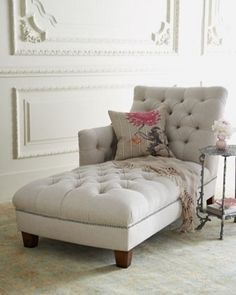I think chaise lounges are so beautiful, but I can never figure out where to put one.