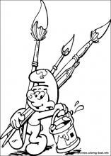 the smurfs coloring pages on coloring bookinfo - Smurf Coloring Pages