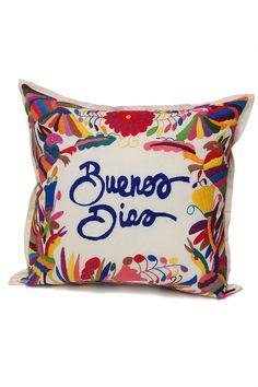 Pillows - Home Decor Mexican Style Bedrooms, Mexican Bedroom, Mexican Home Decor, Handmade Pillows, Custom Pillows, Decorative Pillows, Estilo Kitsch, Mexican Pillows, Mexican Embroidery