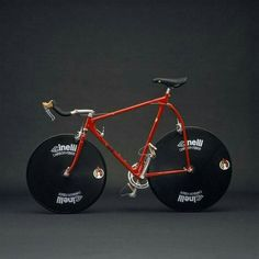 ♥ Cinelli with Disc Wheels // picture from the wrong side