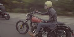 """The cool. ( Butch Walker goes on a bike ride with Harley for """"The Prohibition Tour"""". )"""