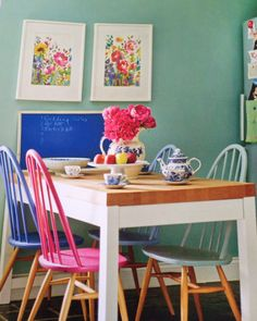 Upcycled chairs, recycled chairs, painted dining chair