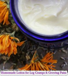 Homemade Lotion for Leg Cramps & Growing Pains