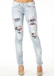 Machine Jeans Flag Skinny Jean - Alloy