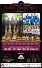 """ACAPPELLA SUPERSHOW featuring stars of NBC's """"The Sing Off"""" - Home Free, Vocal Point & Noteworthy.  Memorial Day May 26 at SCERA Shell Outdoor Theatre in Orem.  I'm so excited!"""