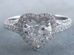 Heart Shaped Diamond Ring, Heart Shaped Rings, Heart Rings, Heart Jewelry, Cute Jewelry, Heart Engagement Rings, Beautiful Rings, Ring Designs, Fashion Rings