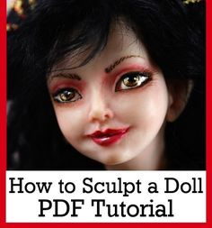 *POLYMER CLAY ~ How to Sculpt a Fairy Doll in polymer clay PDF tutorial Downlodable.