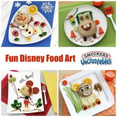 Smucker's® Uncrustables® Food Art for Kids, featuring Disney characters! (AD)